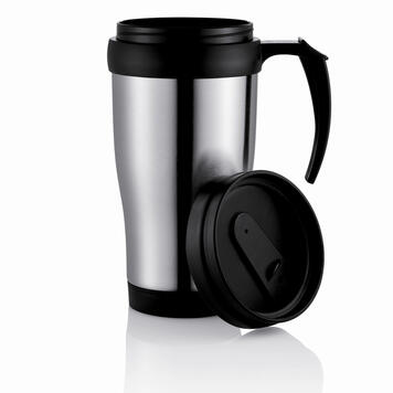 Stainless Steel Mug with Plastic Sleeve