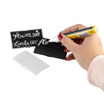 "Name Badge ""Podio Paper Chalk"""