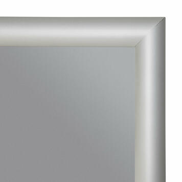 Fire Retardant Snap Frame, 25 mm profile, with mitred corners, silver anodised