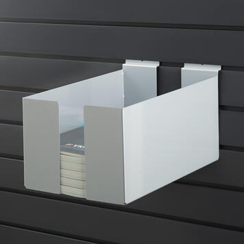 FlexiSlot® Display Case, adjustable width, to show leaflets and catalogues
