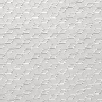 FlexiDeco-Stylepad / Vinyl, Cube Structure pearl grey