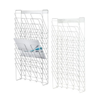 """Multiple Section Wall Mounted Leaflet Holder """"Tundra"""""""
