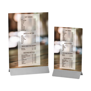 Menu Card Holder made of Stainless Steel