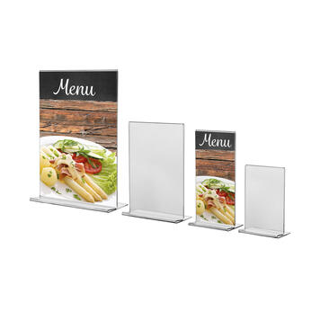 "Menu Card Holder ""Arum"" in standard paper sizes"