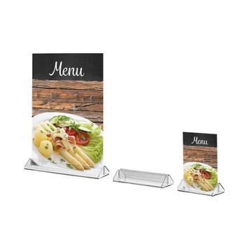 "Menu Card Holder ""Closed Shape"" for Standard Paper Sizes"