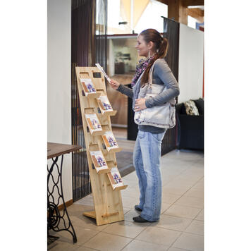 """Leaflet Stand """"H3"""" in wood"""