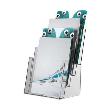 "4 Section Table-Top Leaflet Dispenser ""Universum"""