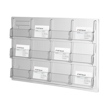 Wall Mounted Business Card Holder with 12 Dispensers