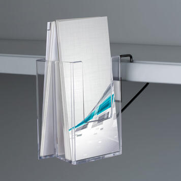 "Double Sided Leaflet Dispenser ""Tigris"" for Shelves"