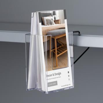 """Double Sided Leaflet Dispenser """"Tigris"""" for Shelves"""