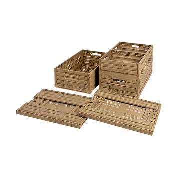 Folding Boxes in Wood Look