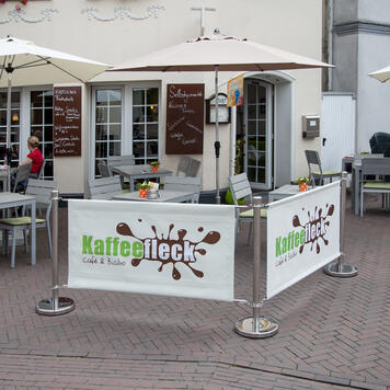 "Banner for Barrier System ""Café"""