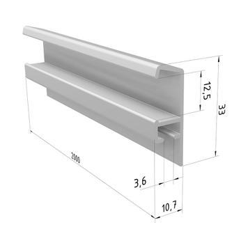 Aluminium Picture Rail Set, silver
