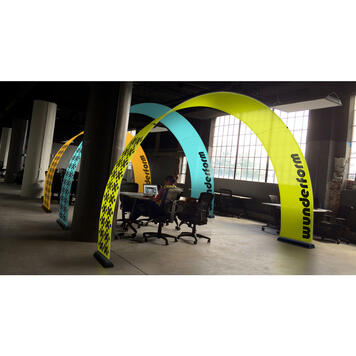 Bannerbow Indoor - the promotional arch for events