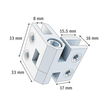 Angled Connector 3 - 10 mm