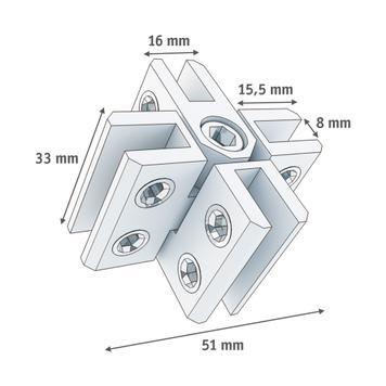 4-Way Connector, rigid