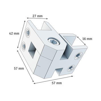 Angled Connector 10-16 mm