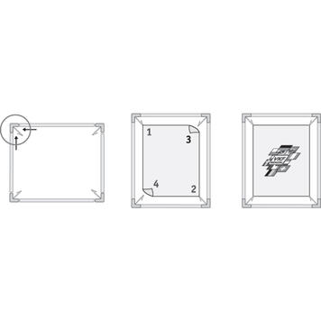 Spring Loaded Aluminium Frame with plastic Clips