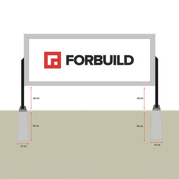 "Bannergear™ Stand ""Concrete Base LED"", 2-sided"
