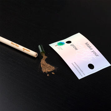 """Pencil """"Sprout"""", with promotional card"""