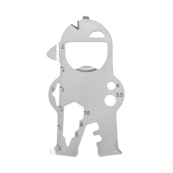 "RICHARTZ Key Tool ""Bob"", multifunctional tool with 17 functions as a key ring"