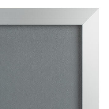 """Click Frame """"Straight"""", 32 mm profile, silver anodised, mitred corners"""