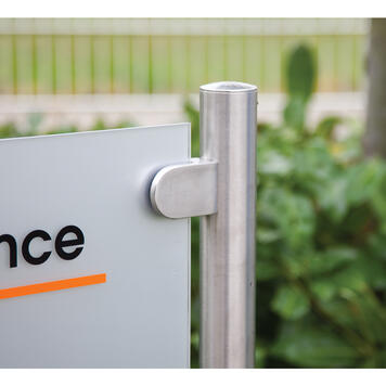 """Company Sign """"Straight-Line Entrance"""" with acrylic panel"""
