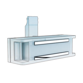 """Horizontal Magnetic Holder for Price Display """"Click"""""""