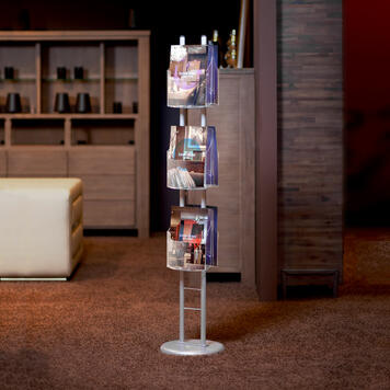 """Leaflet Stand """"Tondo NG"""" with Curved Leaflet Holders"""