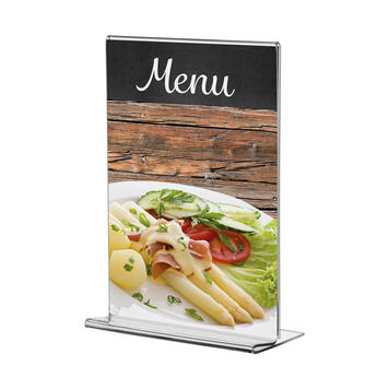 "Menu Card Holder ""Arum"" with 2 x 19mm foam adhesive tape"