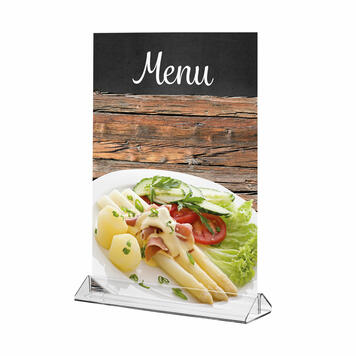 "Menu Card Holder ""Closed Shape"" for Standard Paper Sizes"