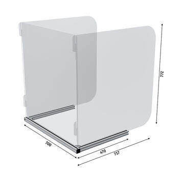 Sneeze Guard 3-sided for Tables