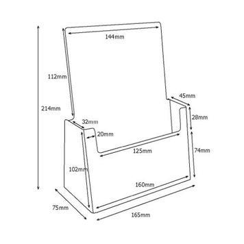 """Table Top Leaflet Holder Single Pocket """"Universum"""""""