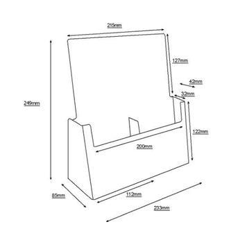 "2 Section Counter Top Leaflet Dispenser ""Universum"" ⅓ A4"