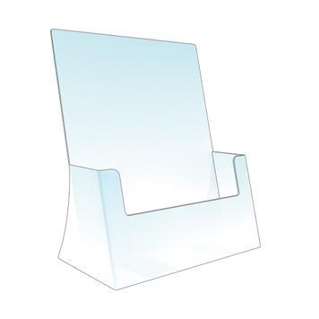 """Desktop Leaflet Holder Single Pocket """"Delta"""""""