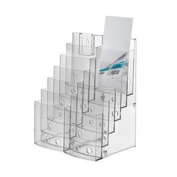 "3-tier or 6-tier Leaflet Dispenser ""Vicia"", sideways extendable"