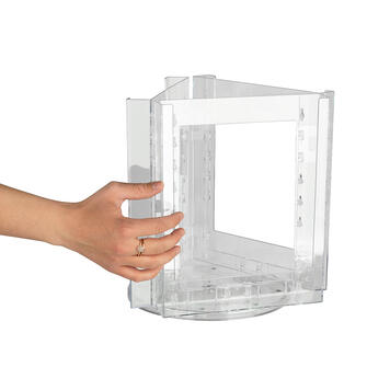 """Counter Top 3 Sided Rotating Leaflet Holder """"Carousel"""""""