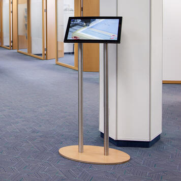 """Advertising Stand POS.movie Infopoint """"Eco 22 III"""" including acrylic plate"""