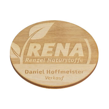 "Wooden Name Badge ""Nerine"""