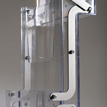 "Folding Leaflet Stand ""Toca"" 5 A4 sections"
