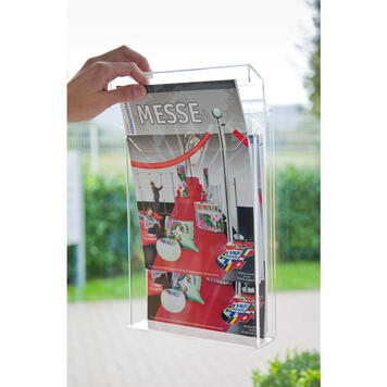 "Wall-Mount Leaflet Dispenser ""Nile II"" to stick"