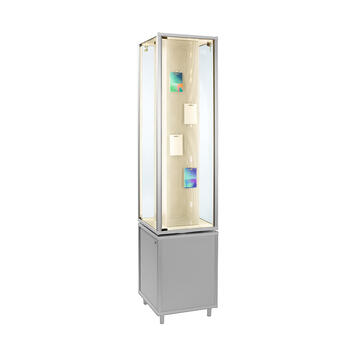 """Rotating Showcase """"Twist"""" with or without cupboard below"""