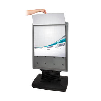 """Waterfillable Poster Stand  """"Fillable"""""""