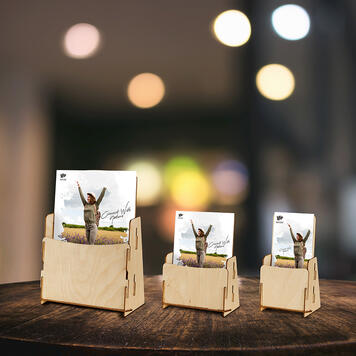"""Brochure Stand """"Nerine"""" made of wood"""