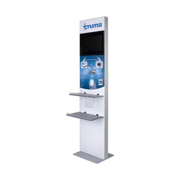 Info Column / Screen Stand with digital Print