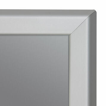 Click Frame with Lamp Post Holder, 32 mm profile, silver anodised, mitered corners