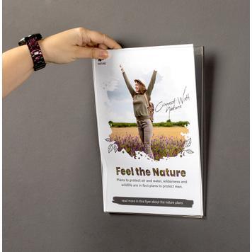 "Acrylic Poster Pocket ""Basic"" - with 2 holes"