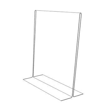 "Menu Card Holder ""T Shape"" in Standard Paper Sizes, clear, 2 mm"