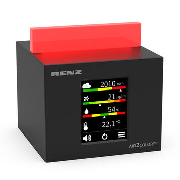 """Air Quality Meter """"Air2Color PRO"""" with CO2 Llight"""