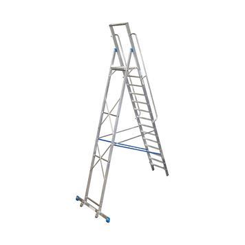 Stepladder with Large Standing Platform